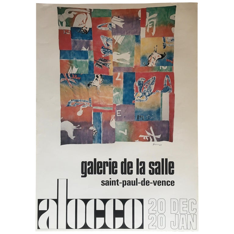 Original Midcentury Art Exhibition Poster by Alocco For Sale
