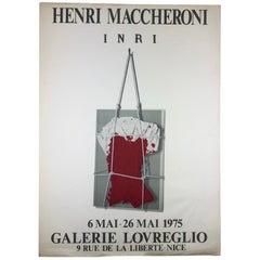 Original Midcentury Henri Maccheroni Art Exhibition Poster