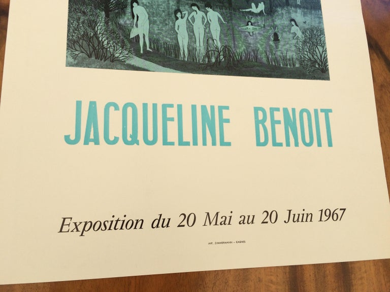 20th Century Original Midcentury Jacqueline Benoit Art Exhibition Poster, 1967
