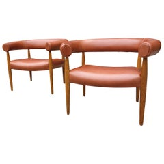 Original Midcentury Nanna Ditzel Ring Chairs