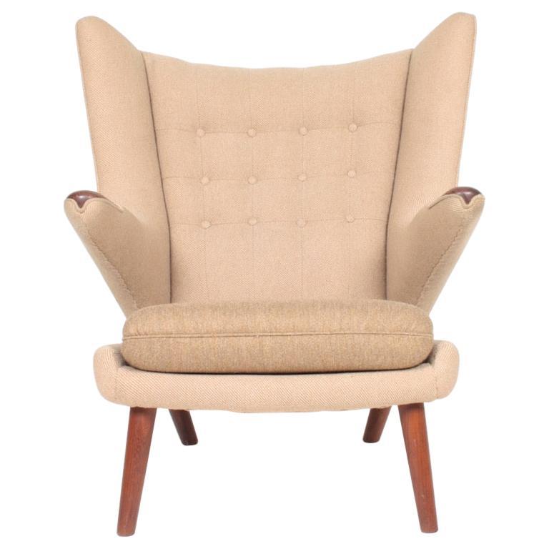 Original Midcentury Papa Bear Chair by Wegner, Danish Design, 1960s For Sale
