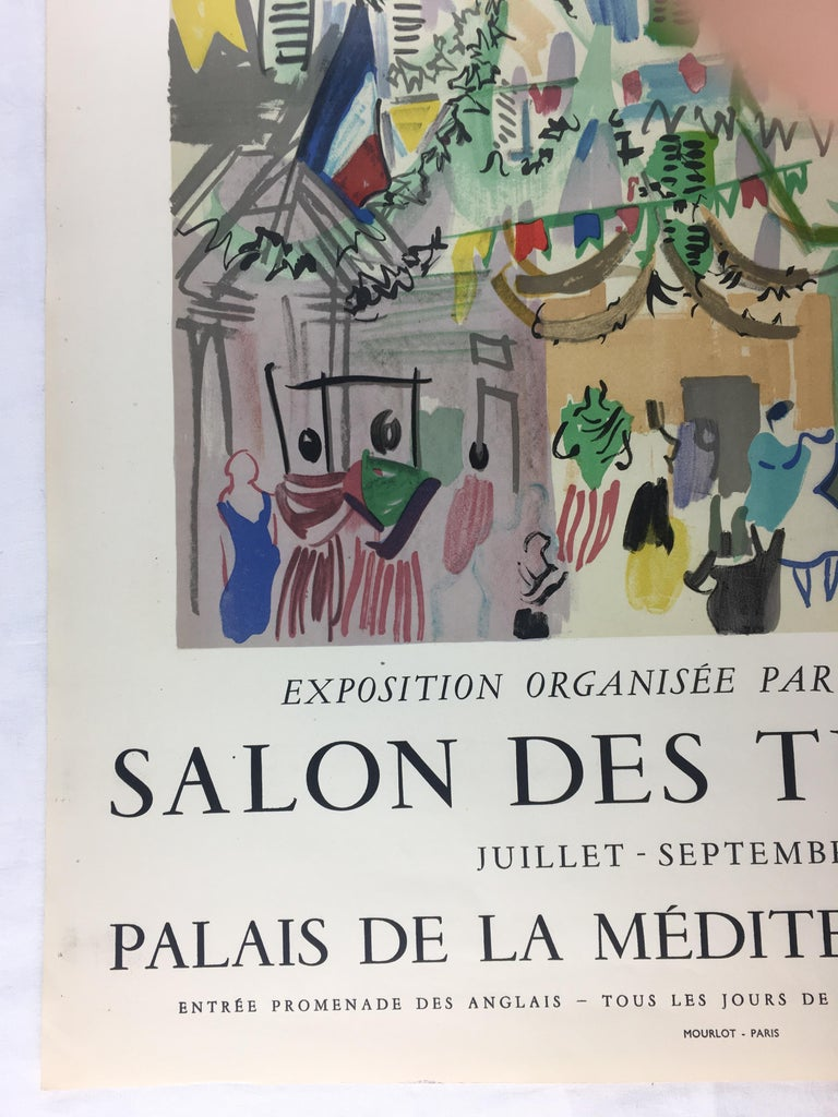 French Original Midcentury Raoul Dufy Mourlot Art Poster, circa 1957 For Sale