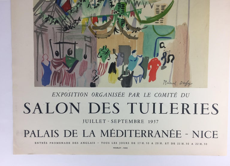 20th Century Original Midcentury Raoul Dufy Mourlot Art Poster, circa 1957 For Sale