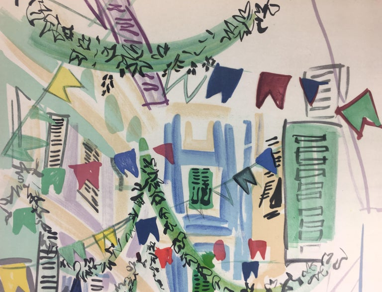 Paper Original Midcentury Raoul Dufy Mourlot Art Poster, circa 1957 For Sale