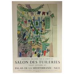 Original Midcentury Raoul Dufy Mourlot Art Poster, circa 1957