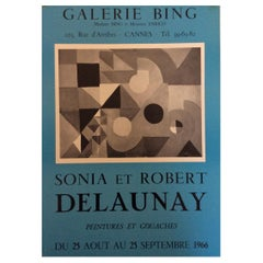 Original Midcentury Cubist Art Poster by Sonia & Robert Delaunay