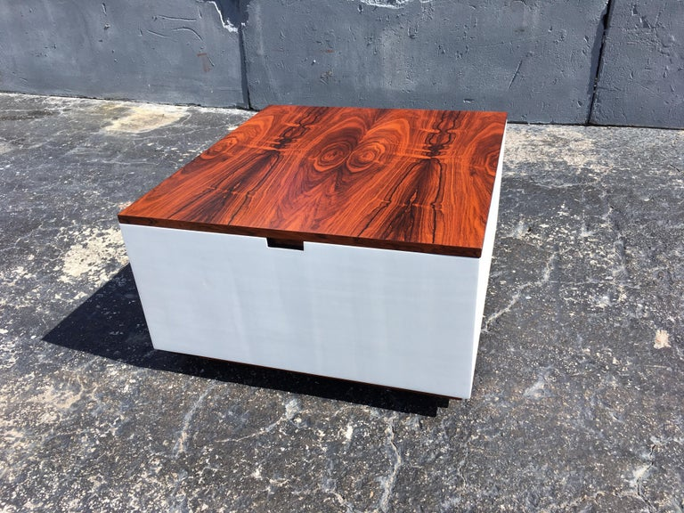 Original Milo Baughman Coffee Table for Thayer Coggin, Rosewood, White For Sale 12
