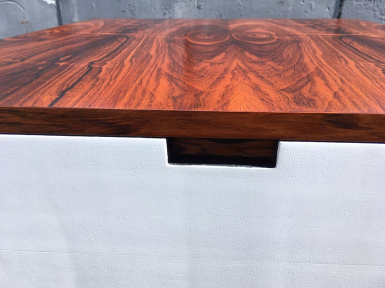 Original Milo Baughman Coffee Table for Thayer Coggin, Rosewood, White For Sale 13