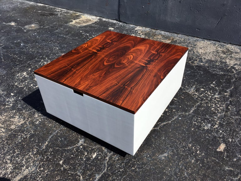 Original Milo Baughman Coffee Table for Thayer Coggin, Rosewood, White For Sale 14