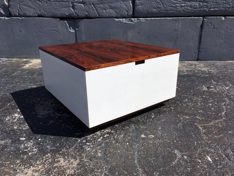 Mid-Century Modern Original Milo Baughman Coffee Table for Thayer Coggin, Rosewood, White For Sale