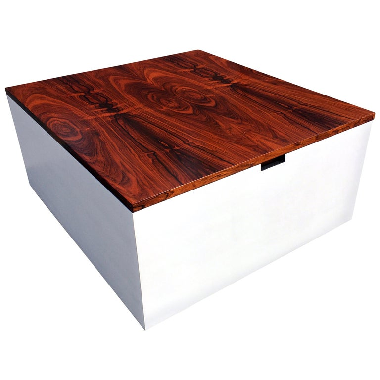 Original Milo Baughman Coffee Table for Thayer Coggin, Rosewood, White For Sale