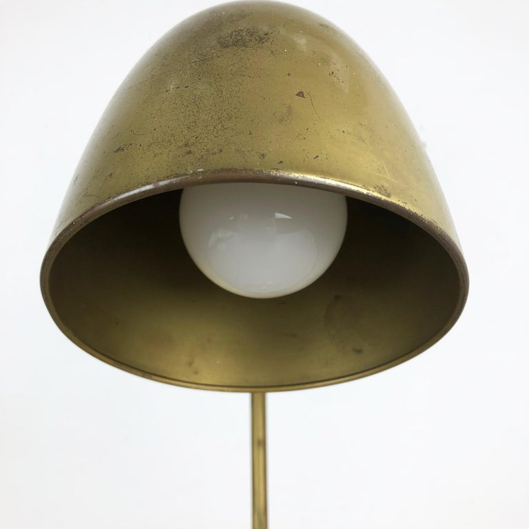 Original Modernist Brass Metal Table Light Made by Cosack Attributed, Germany For Sale 5