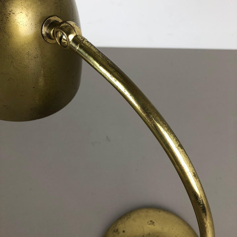 Original Modernist Brass Metal Table Light Made by Cosack Attributed, Germany For Sale 9