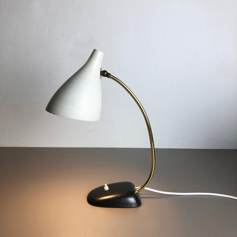Mid-Century Modern original modernist 1960s metal Table light made by Cosack, Germany