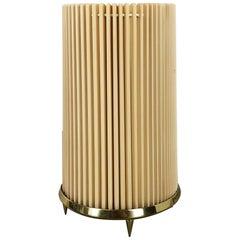 Original Modernist Huge Stilnovo Style Table Light with Brass Base, Italy, 1970s