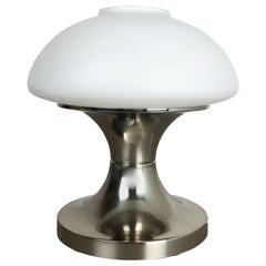 Original Modernist Mushroom Sputnik Table Light with Opal Shade, Italy, 1970s
