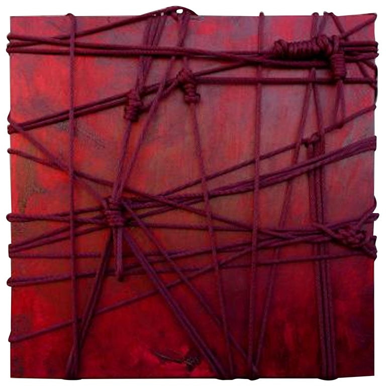 """Original """"Momijigari"""" Modern Sculptural Relief Painting by Artist Chanel Verdult For Sale"""