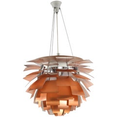 Original Monumental Poul Henningsen Copper PH Artichoke Chandelier Louis Poulsen