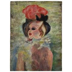 Original Moulin Rouge Henri de Toulouse-Lautrec Style Painting