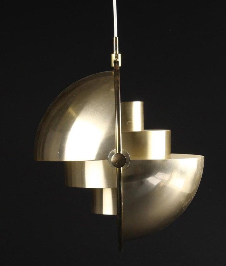 Danish Original Multi-Light Pendant by Louis Weisdorf for Lyfa/ 4 available For Sale