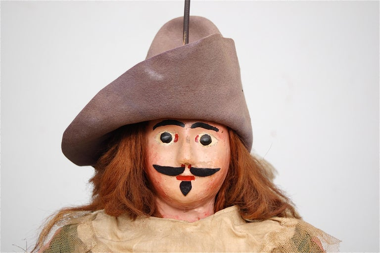 Renaissance Original Musketeer Toone Puppet with Certificate For Sale