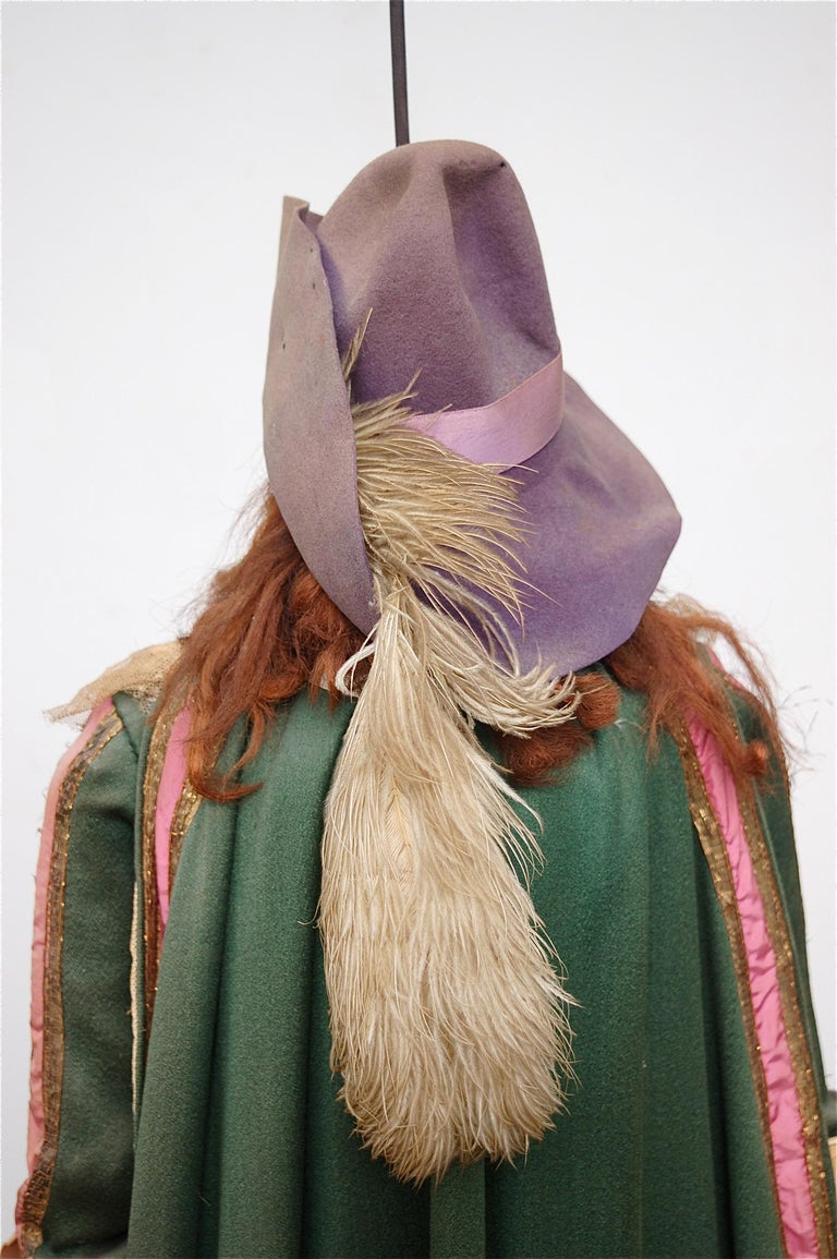 Belgian Original Musketeer Toone Puppet with Certificate For Sale