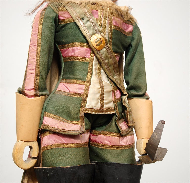 Original Musketeer Toone Puppet with Certificate In Good Condition For Sale In Noorderwijk, BE