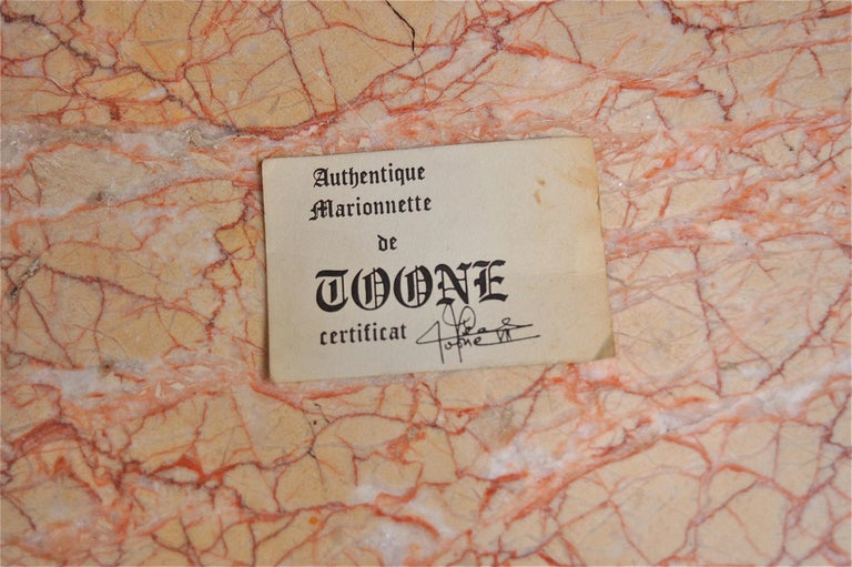 Original Musketeer Toone Puppet with Certificate For Sale 2
