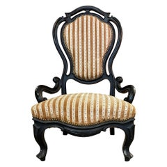 Original Napoleon III Ebonized Chair, France, 1850s