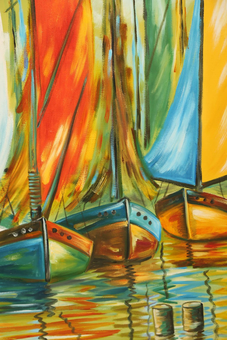 Original Nautical Oil Painting In Good Condition For Sale In West Palm Beach, FL