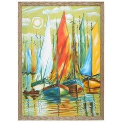 Original Nautical Oil Painting