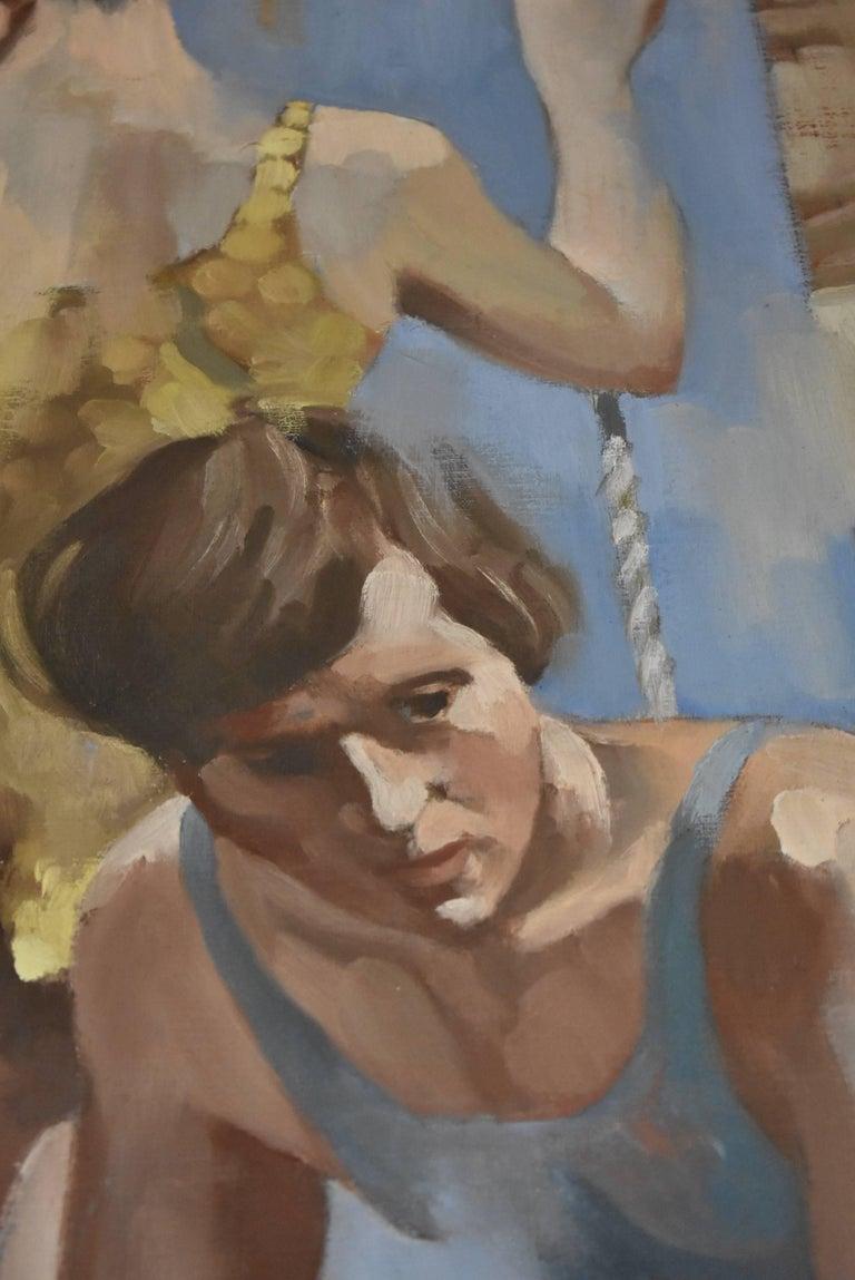 North American Original Oil on Canvas Artist Adam Grant Circus