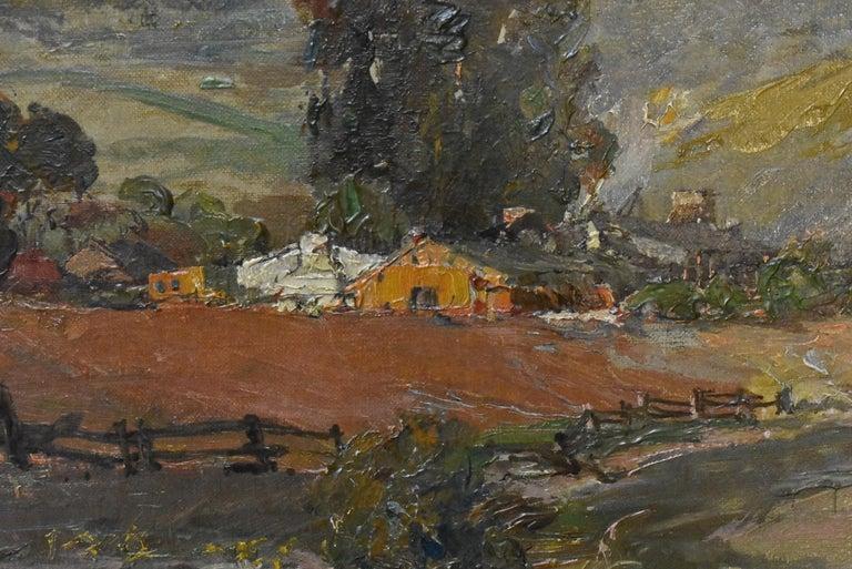 Modern Original Oil On Canvas California Artist Edward Holslag Landscape Countryside For Sale