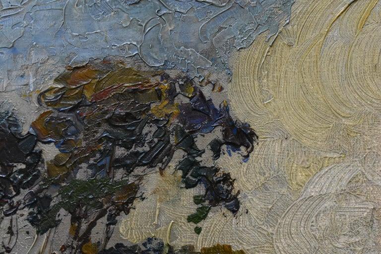 Hand-Painted Original Oil On Canvas California Artist Edward Holslag Landscape Countryside For Sale
