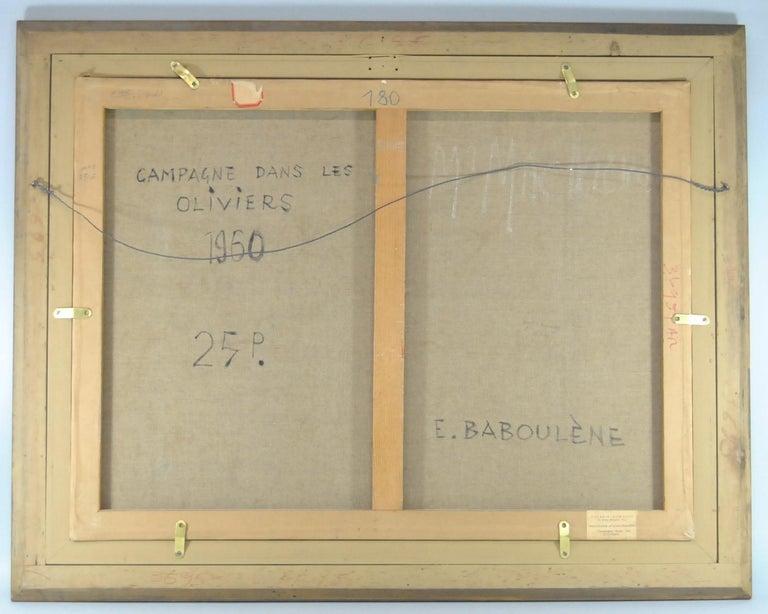Original Oil on Canvas French Artist Eugene Baboulene Campagne Dans Les Oliviers For Sale 1