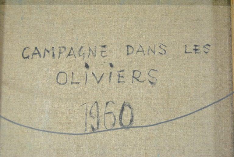 Original Oil on Canvas French Artist Eugene Baboulene Campagne Dans Les Oliviers For Sale 2