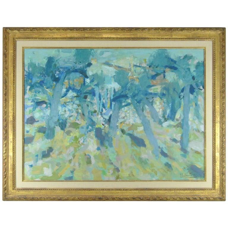Original Oil on Canvas French Artist Eugene Baboulene Campagne Dans Les Oliviers For Sale