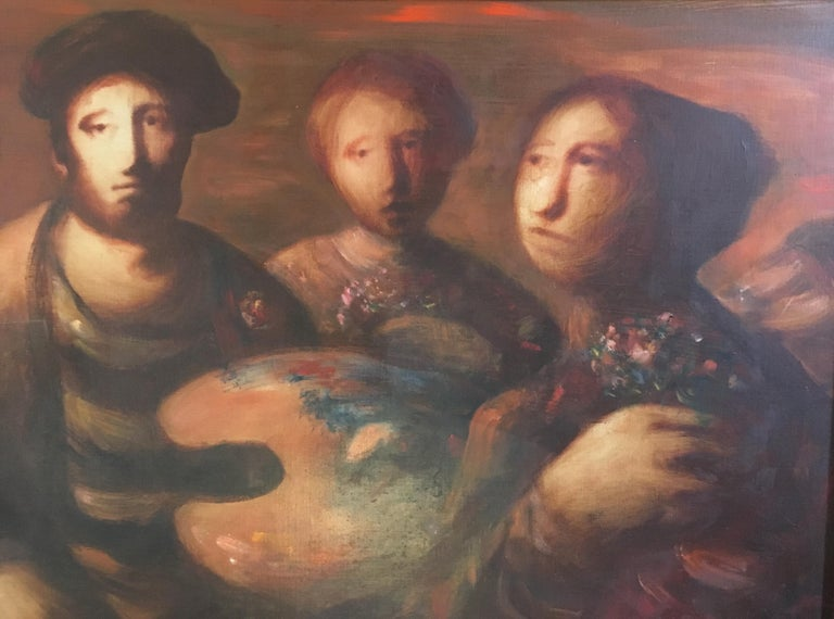 Sylvain Vigny Original Oil on Canvas Figurative Painting, Signed  In Good Condition In Arles, FR