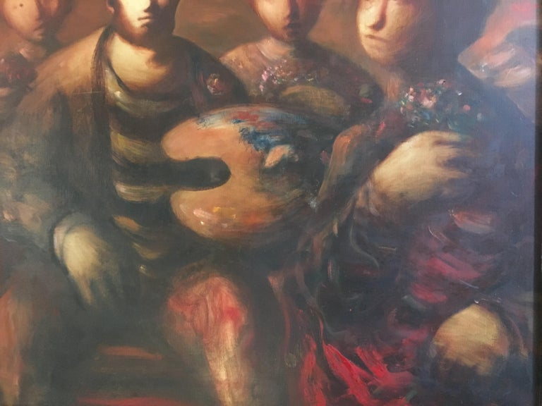20th Century Sylvain Vigny Original Oil on Canvas Figurative Painting, Signed
