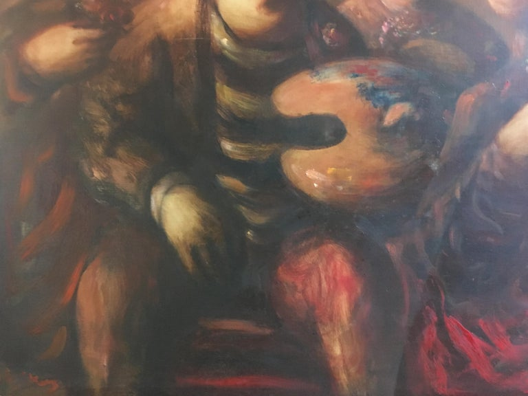Sylvain Vigny Original Oil on Canvas Figurative Painting, Signed  1