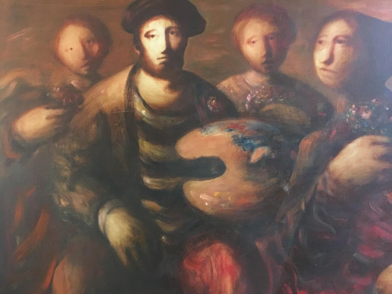 Sylvain Vigny Original Oil on Canvas Figurative Painting, Signed  2