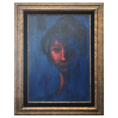 Original Oil on Canvas Portrait by Listed Artist Pascal Cucaro