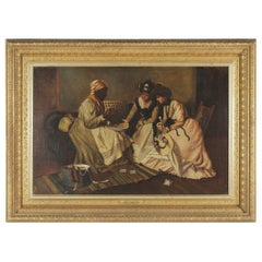 """Original Oil on Canvas """"The Fortune Teller"""" by Harry Roseland"""