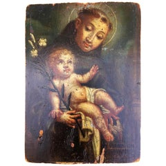 Original Oil on Panel of St. Anthony of Padua