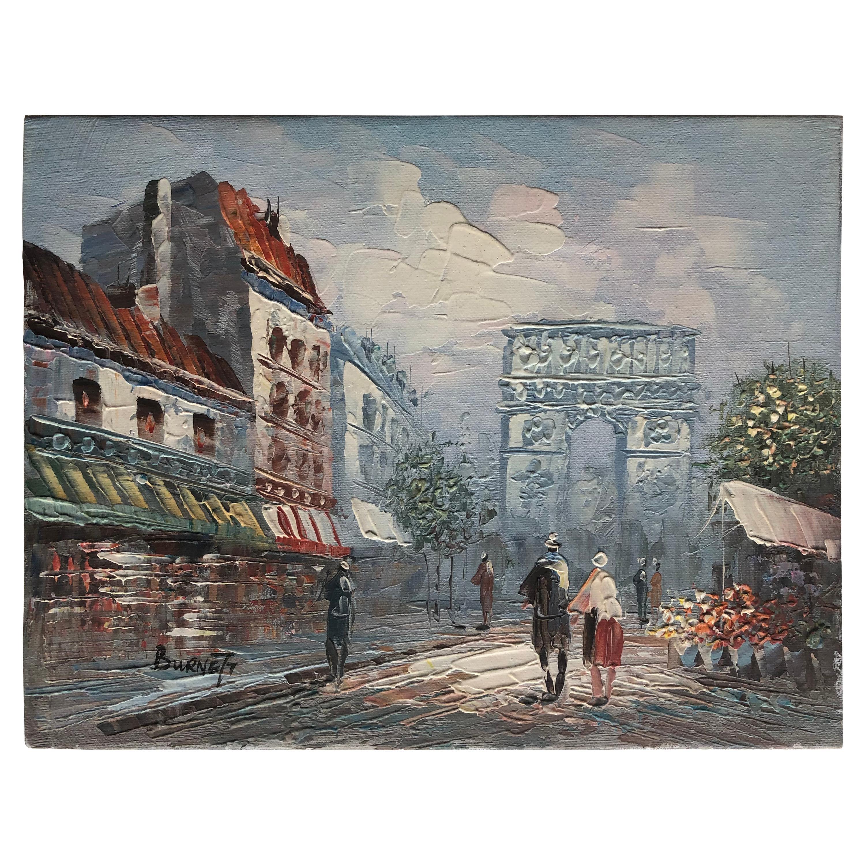 Original Oil Painting by Caroline Burnett, Signed
