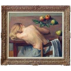 Original Oil Painting by New York Realist Robert Brackman 'Nude Resting'