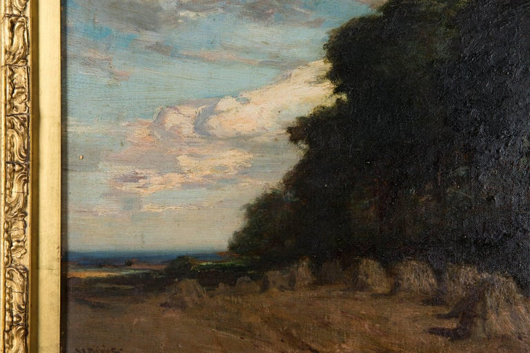 Oiled Original Oil Painting Landscape by James Campbell, 1846-1913 For Sale