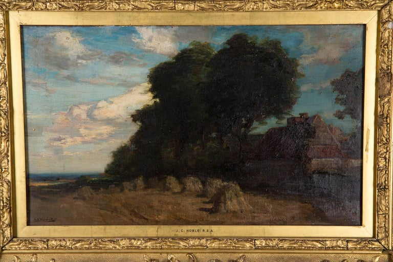 Original Oil Painting Landscape by James Campbell, 1846-1913 In Good Condition For Sale In Berlin, DE