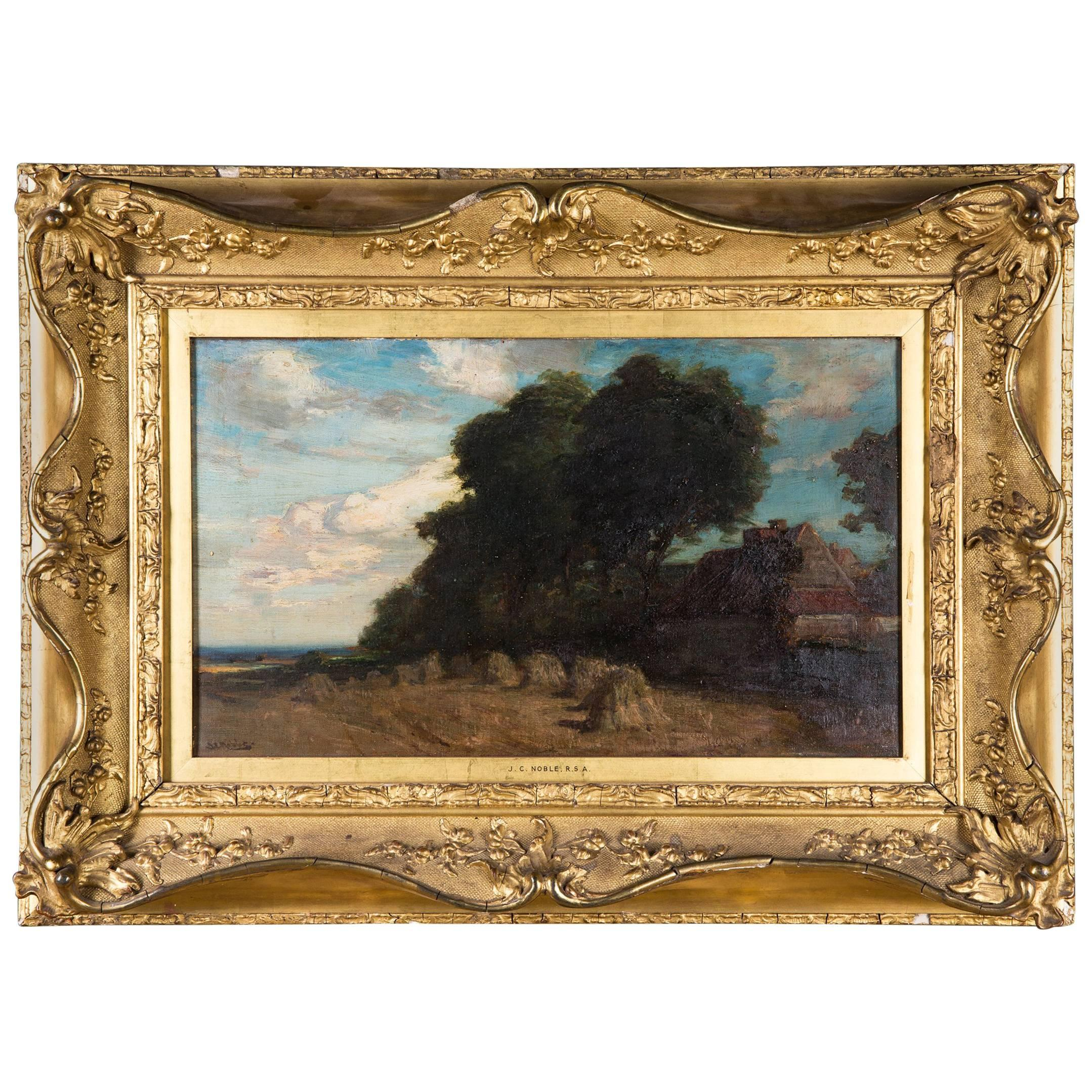 Original Oil Painting Landscape by James Campbell, 1846-1913
