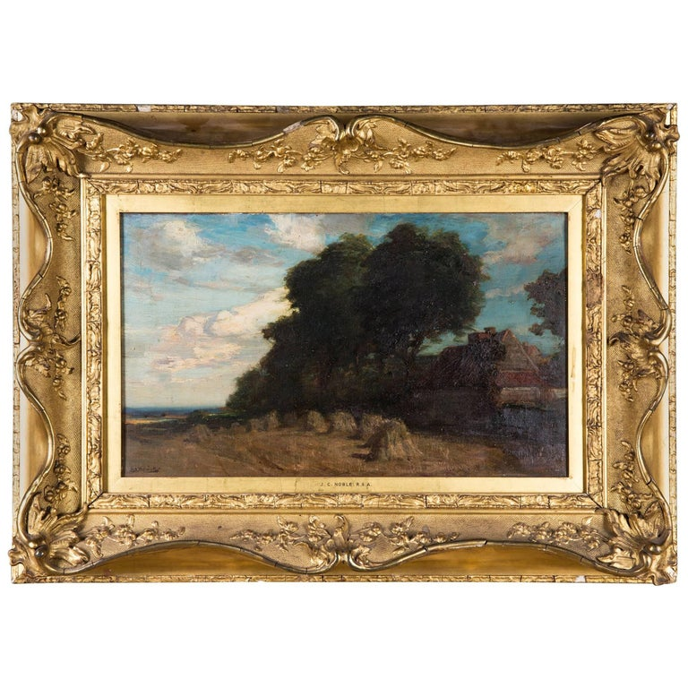 Original Oil Painting Landscape by James Campbell, 1846-1913 For Sale